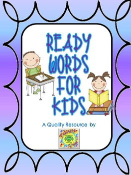 {EDITABLE} Ready Words for Kids