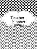 EDITABLE Teacher Planner - Black and White
