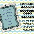 EDITABLE Teacher Planner Chevron 304 Pages