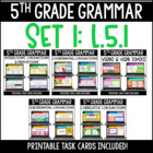 ELA Language Common Core Task Cards 5th Grade CCSS L.5.1 {