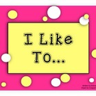 ELL eBook:  I Like To...