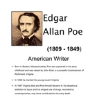 ENGLISH - Who is Edgar Allan Poe?