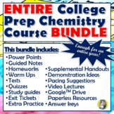 ENTIRE COLLEGE PREP CHEMISTRY COURSE - ENOUGH MATERIAL FOR