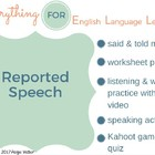 ESL Intermediate/ Advanced Reported Speech Practice