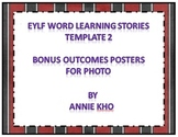 EYLF Word Learning Stories Template 2 bonus Outcome Poster