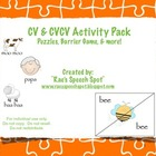 Early Developing Sounds Activity Pack!  CV and CVCV for Sp