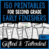 Early Finisher MEGA PACK (100 Printables for Second Grade