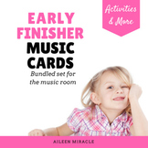 Early Finisher Music Cards {Bundled Set}