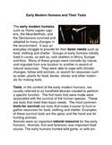 Early Humans and their Tools:  Common Core Reading and Wri