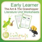 "Early Learner ""The Ant and the Grasshopper"" Unit Worksheets."