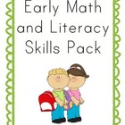 Early Math and Literacy Skills Pack