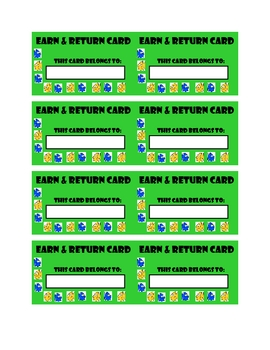 Earn & Return Student Cards
