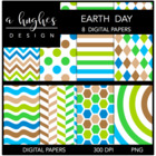 Earth Day {12x12 Digital Papers for Commercial Use}