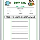 Earth Day ABC Order - primary