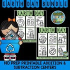Earth Day Addition and Subtraction Printable Center Games