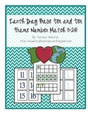 Earth Day Base Ten and Ten Frame Number Match 11-20