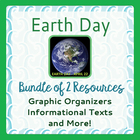 Earth Day Bundle of 2 Products - Graphic Organizers, Infor