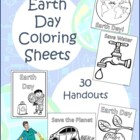 Earth Day Coloring Sheets for Early Learners