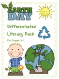 Earth Day Differentiated Literacy Centers and Activity Pac