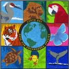 Earth Day Endangered PDF Mural Template