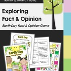 Earth Day Fact & Opinion Game and Sorting Learning Center