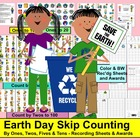 Earth Day Math Center Counting and Skip Counting Activitie