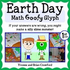 Earth Day Math Goofy Glyph (1st grade Common Core)