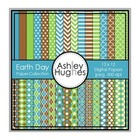 Earth Day Paper Collection {12x12 Digital Papers for Comme