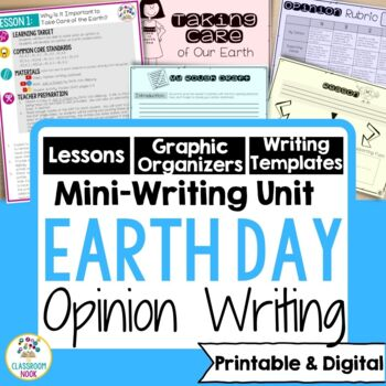 Earth Day Persuasive Writing Mini-Unit
