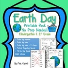 Earth Day Printable Pack - Kindergarten and 1st Grade