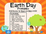Earth Day Printables-Skill Review for ELA and Math CCSS
