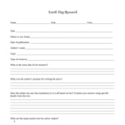 Earth Day Project Research Form