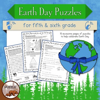Earth Day Puzzles for Grades 5 and 6