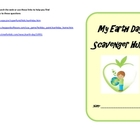 Earth Day Scavenger Hunt Booklet