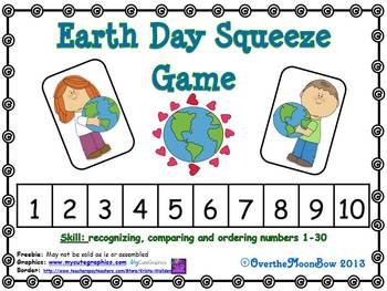 Earth Day Squeeze Number Game