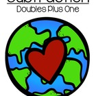 Earth Day Subtraction Center - Doubles Plus One Concept