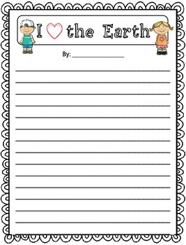 earth day writing | All Things Teaching | Pinterest