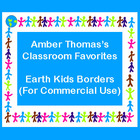 Earth Kids Borders Clip Art for Commerical Use