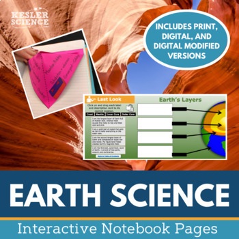 Earth Sciences Interactive Notebook Pages