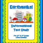 """Earthquake"" Common Core Informational Nonfiction Close Re"