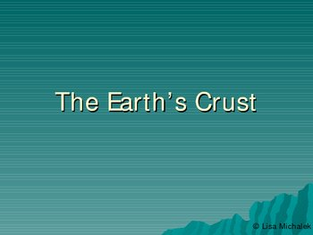 Earths Crust - Earthquakes PowerPoint Presentation Lesson Plan