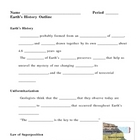 Earths History Notes Outline Lesson Plan