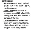 Earth's Layers Basic Notes