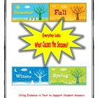 Common Core Earth's Seasons: Citing text evidence to suppo