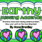 Earthy Missing Addends Center {freebie}