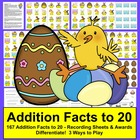 Easter Math Centers Activities- 167 Addition Facts-Differe