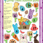 Easter Addition, Subtraction, and Multiplication Bump Game