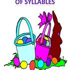 Easter Basket Full of Syllables - a syllable clapping sound sort