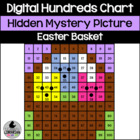 Easter Basket Hundreds Chart Hidden Picture Activity for Math