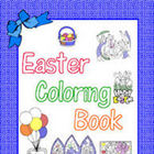Easter Coloring Book - 100 pages